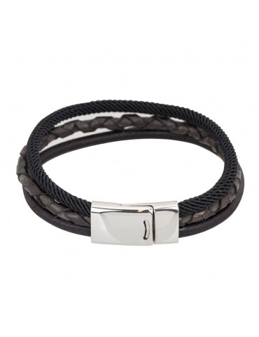 Leather men bracelet