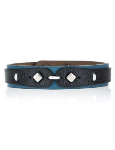 Leather men bracelet