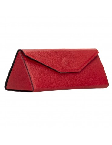 Real leather glasses pouch