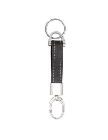 Metal keychain with Leather...
